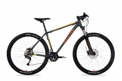 """Kerékpár XC Merev 29"""" Csepel Woodlands Pro 29/20"""" L 2.1 27seb. Sötétzöld"""
