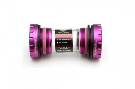 Középcsapágy integrált Hollowtech II 68-73mm 24mm Spyral lila (GXP adapterrel)