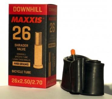 Gumitömlő 26x2.50/2.70 AV Maxxis dh 1.5mm DH belső gumi 32 mm hosszú szeleppel, autós