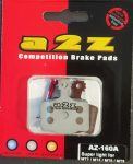 Fékbetét gyantás A2Z AZ-160A Ultralight Magura MT2, MT4, MT6, MT8 2 dugattyúsokhoz