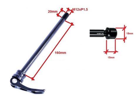 Átütőtengely Hátsó 12x148 - 179mm M12x1.5 E-Thru FORMULA XQR-12E