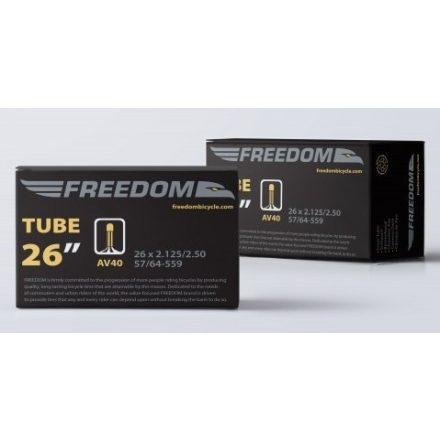 """Gumitömlő 26 X 2.125/2.50"""" AV40 Freedom MTB 40 mm hosszú Autószeleppel"""