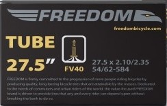 Gumitömlő 27.5x2.1/2.35 FV40 Freedom MTB belső gumi 40 mm hosszú Presta szeleppel