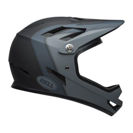 Sisak Fullface 47-51cm (XS) Bell Sanction 850g Matt Fekete / Szürke