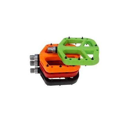 Pedál Platform Műanyag Cserélhető tüskés SPYRAL NYC N9, 350g ZÖLD