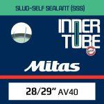 Gumitömlő 29x2.10-2.50 Mitas Slug Self-Sealant AV40 Autószelepes Tömítőfolyadékos