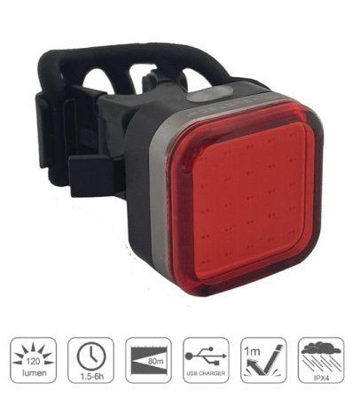Lámpa Hátsó USB VELOTECH Pro QUAD 120 lumen 300 mAh 25 chipled
