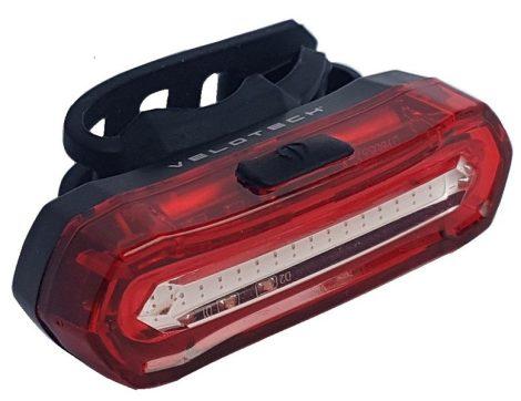 Lámpa Hátsó USB VELOTECH 16 LED Féklámpás (lassulásérzékelős)