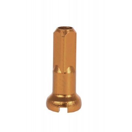 Küllőanya ALU 14mm hosszú, 2mm küllőhöz CN Arany (db) Újra készleten!