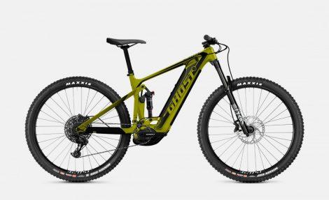 """Kerékpár Elektromos Fully 29"""" 2021 Ghost E-Riot Trail CF Advanced B625 Carbon - Kiwi / Fekete (Előrendelhető)"""